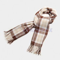 Men's Women's Unisex Striped Long Warm Plaid Scarf Wrap Neck Muffler Pashmina Collar Winter Autum Shawl