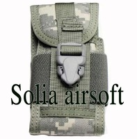 High Quality 1000D Nylon Molle Phone Pouch Bag Cover For Outdoor Sports Bike Camping ACU