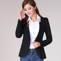 2013 autumn slim all-match women's one button suit slim small jacket plus size blazer