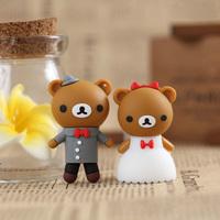 Gift usb flash drive 16g formal dress wedding dress bear cartoon usb flash drive wedding gift