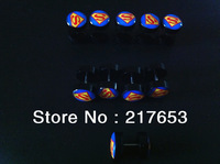 Free shipping 1.2*6*10/10mm 20pcs illusion cheaters blue Superman logo drip style fashion print fake plugs body piercing jewelry