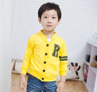New fashion Spring autumn child hot-selling  letter print upperwear thin cardigan sweater outwear 4 colors