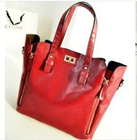 European and American fashion shopping bag retro handbag lading shoulder bag  female bag