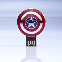 wholesale hot Captain America style usb flash disk 1GB 2GB 4GB 8GB 16GB 32GB usb flash drive F-H049