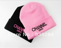 New 2013 Winter Women GD CHANNEL ZERO Harajuku Knitted Hat Fashion Korean Warm Beanie Women Winter Cap For Girls