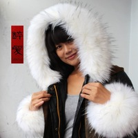 Hot sales Fox fur collar raccoon fur collar down coat cap of  false collar overcoat collars clearance free shipping