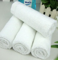 20pcs/lot  30*30cm White towel beauty care 100% cotton scarf bath towel hotel hand towel M013