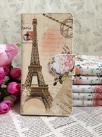Free Shipping + Flower Paris Eiffel Tower Leather Whole Cover Case for  Motorola Moto X PHONE XT1055