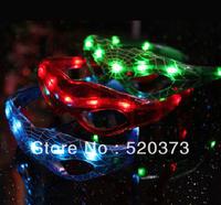 LED Spiderman Glasses Flashing Glasses Light Party Glow Mask Halloween Christmas gift  8 pcs/lot