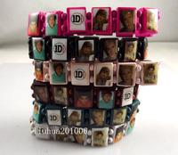 New 12 x 1D One 1 direction Wood Stretch bracelets Mix Wholesale Fashion Wristbands Jewelry