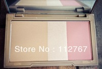 Free shipping~Hot sale Fashion UD 3 colors flushed blusher Very good quality full naked make up blush ADA027