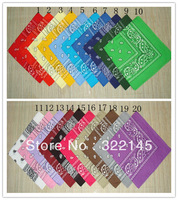 HOT SALE! 100% COTTON Lot Wholesale Dozen Bandanas 12 PCS Mixed Colors Paisley Bandanas double sided head wrap scarf wristband
