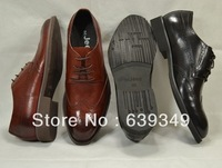 Italian leather carve patterns or designs on woodwork commuter male shoes all leather business leather shoes inside and outside