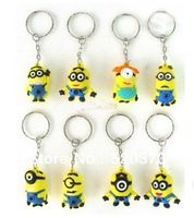 3D Anime Cartoon  Movie despicable me keychain  mobile toys  despicable me minion  hot sale