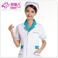 Free shipping  nurse pharmacy overalls summer models wear short-sleeved dress white, pink, blue short-sleeve