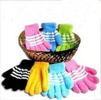 50pairs/lot,New Cartoon Cotton Winter Warm Gloves for kids/Children Sweet Gloves for warm winter Free Ship