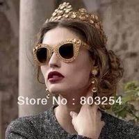 free shipping wholesale and retail  women metal sunglasses -- original designer sunglasses  DGN  2013 new frames