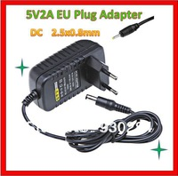 Universal 5V 2A  Mains Home EU AC Smart Phone Power Adapter Angleterre Wall Travel Protable Charger DC 2.5X0.8mm