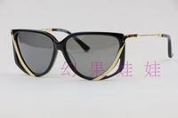 Linda farrow projects plate sunglasses big box all-match fashion Fashion personality