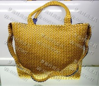 Free shipping Bags women's handbag 2013 fashion bag woven bag two-color two sides handbag