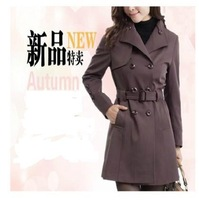 2013 quinquagenarian female autumn outerwear middle-age women trench plus size mother autumn clothing slim medium-long outerwear