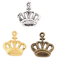 Colorful Crown floating Charms(3190 #)17*19 mm(100PCS)
