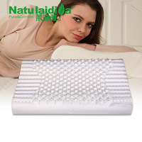Free Shipping! Hot Sale High-end Import Laidiya 100% Natural Latex Pillow Flower Wave Neck Care Pillow Memory Foam Pillow