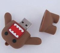 Retail cartoon anime funny angry Domo Kun USB Flash Drives thumb pen drive memory stick disk 1GB-32GB Free shipping