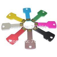 Wholesale OEM usb flash drive key shape  pen drive +free shipping +free for logo engraved