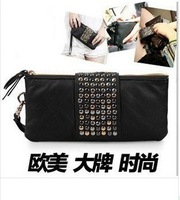 2013 new 3 colors pu leather  women wallet,fashion luxury  women clutch bag,brand organzier  vintage purse/424