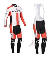 2013 NEW kuota Winter Thermal Fleece Long Sleeve Cycling Jersey Cycling Wear and bib Pants best quality drop shipping
