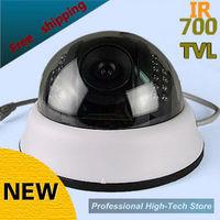 free shipping 2013 NEW HD 700TVL HD cctv camera IR 24 LEDS  surveillance camera security camera wholesale dome camera