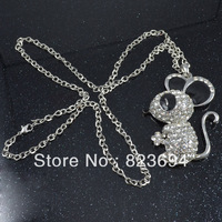 Fashion black and white mouse model necklace jewelry pendant Christmas gifts