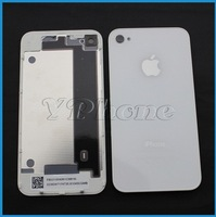 Free Shipping Glass Back Cover for iPhone 4 4S Black White Battery Door Housing Wholesale Replacement Repair Parts High Quality