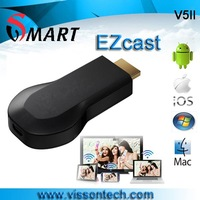 2013 Newest V5II EZCast Version 3 miracast router adapter dlna box display Wi-Fi display box sharer from manufacturer