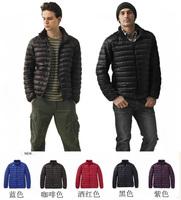 8 Colors Winter Men's Warm Duck Down Jackets Collar Long Sleeve Casual Zipper Outdoors Sport Coats Outwear Free Shipping