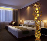 Fashion brief aluminum light fashion bedroom bedside lamp rustic floor lamp aluminum light