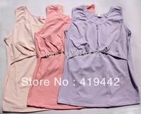 Cotton Nursing clothes tank for breastfeeding super elastic maternity vest 2 pieces/lot