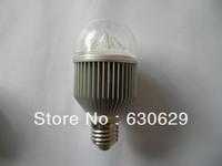 DHL free Wholesale(10pieces/lot)The E27 ultra bright led ball steep light 5w(5*1w) energy-saving bulb ball steep light