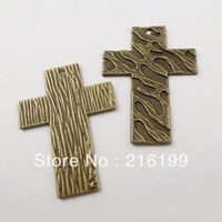 Whosesale Vintage Style Bronze Tone Alloy Cute Cross Pendant Charm Craft Decor 18pcs 36806