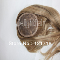 """Free shipping ! 4.5""""X5.5"""" ombre blonde color brazilian virgin remy human hair top closure"""