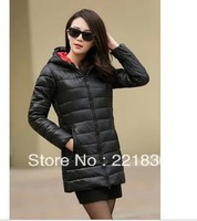Free Shipping New feather cotton thickening in the long winter jacket coat