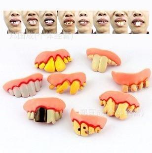 Adereços Halloween dia da mentira bar choque brinquedos Tricky dentes incisivos engraçada define atacado(China (Mainland))