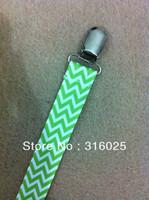 green chevron Pacifier Clip Holder,dummy clip +free shipping