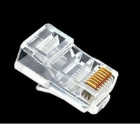 golden plated contact RJ45 Plugs Modular Network 8P8C Connectors CAT5 Plug Ethernet Free shipping &wholesale
