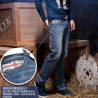 Male male straight jeans trousers slim straight casual trousers 2013 autumn and winter