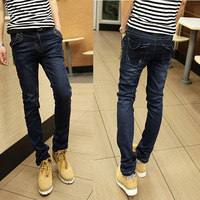Slim jeans slim straight male fashion male winter teenage skinny pants