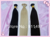 "New arriving18""-24"" 100% Indian Virgin Remy Hair Straight Hair #1 #22 #2 I-tip Pre-bonded Hair Extensions 100s/lot 1g/s in stock"