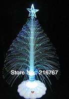 12pcs free shipping 4colors fiber optic scintillation bright Christmas tree decoration shinning tree gift wishing tree Big
