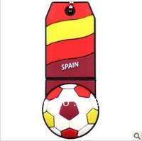 Free Shipping hot World Cup European Cup, spanish national football team logo, football team usb flash drive 1-32GB,  pendrive